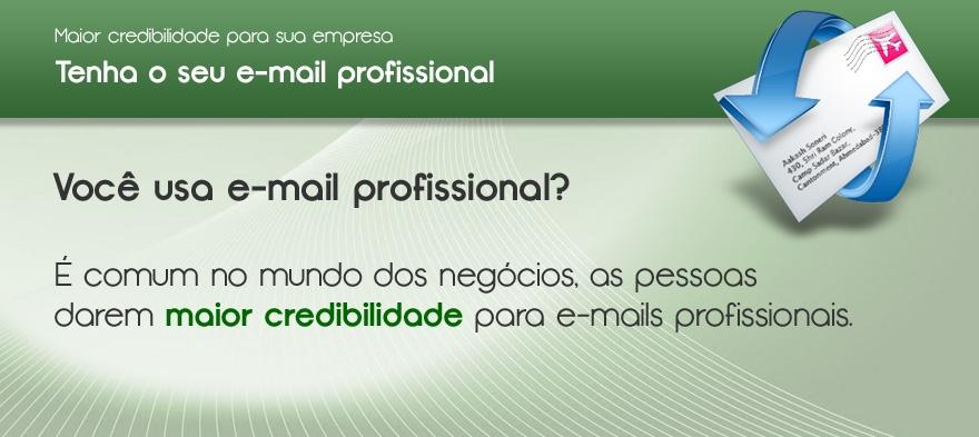 Tenha o seu e-mail profissional